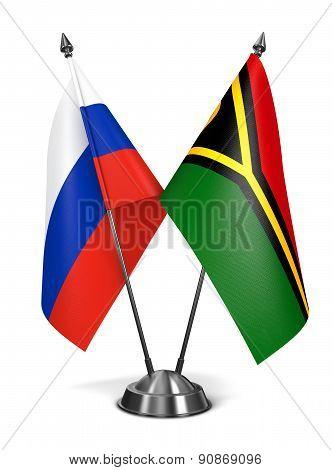 Russia and Vanuatu - Miniature Flags.