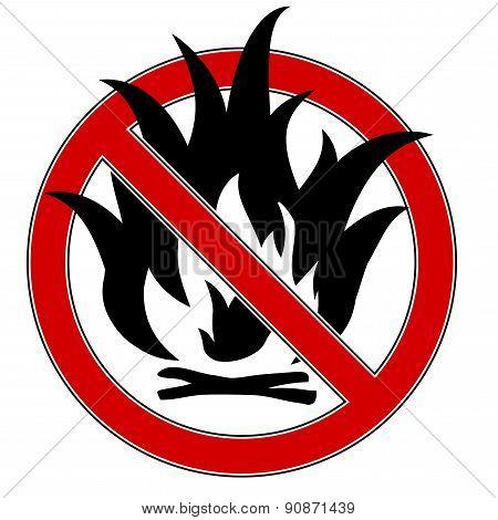 No fire sign