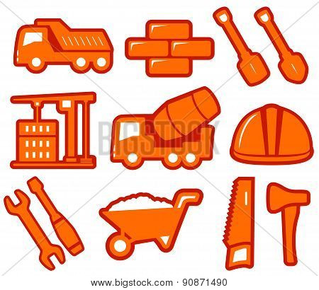 Set Industrial Tools Isolated Icons