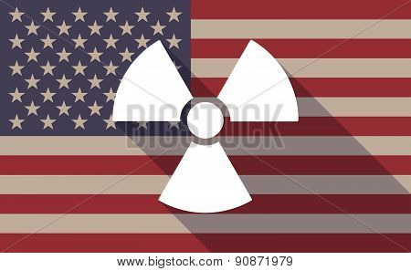 Usa Flag Icon With A Radio Activity