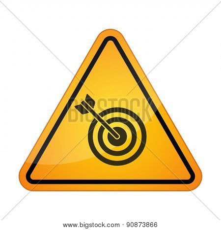 Danger Signal Icon With A Dart Board