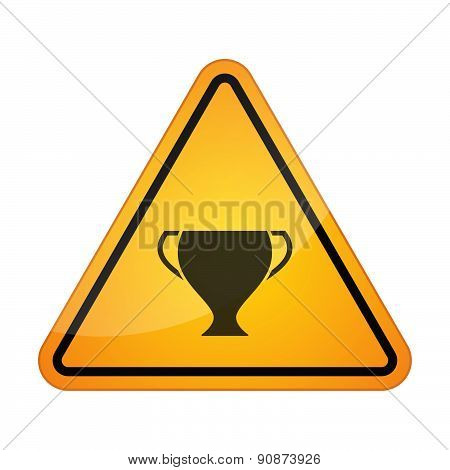 Danger Signal Icon With An Award Cup