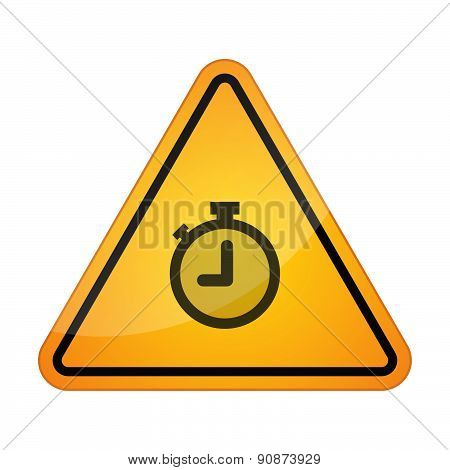Danger Signal Icon With A Timer