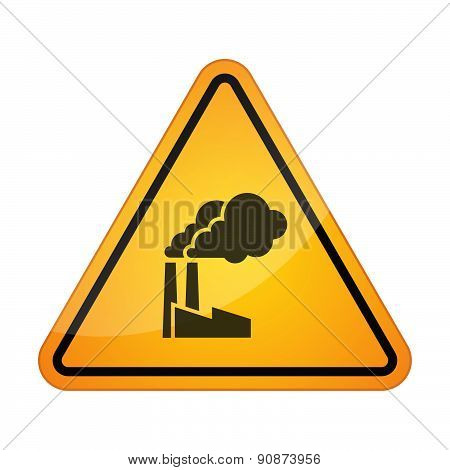 Danger Signal Icon With A Factory