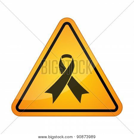 Danger Signal Icon With A Ribbon