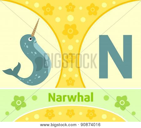 The English alphabet N