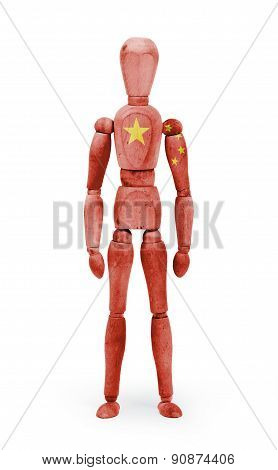 Wood Figure Mannequin With Flag Bodypaint - China