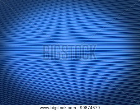 Blue roller shutter background