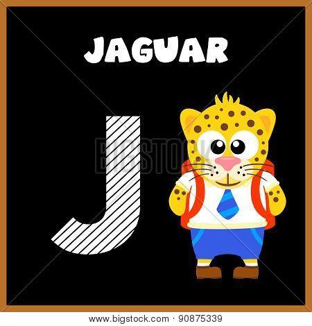 The English alphabet letter J
