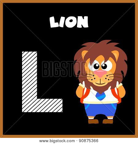 The English alphabet letter L