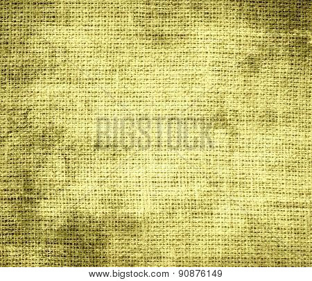 Grunge background of buff burlap texture