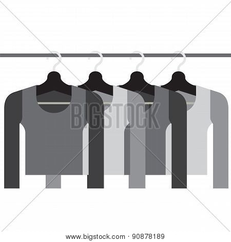 Sleeves Shirts With Hangers.