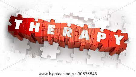 Therapy - White Word on Red Puzzles.