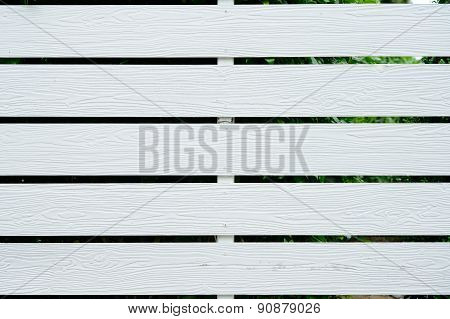 White Fence, Wood Texture Background