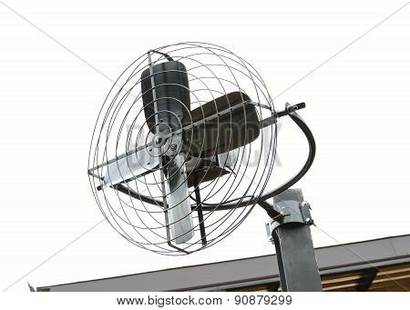 Metal Iron Fan Isolated On White Background