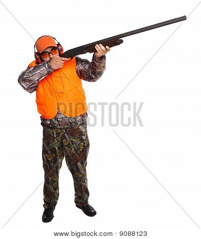 Hunter Standing And Aiming