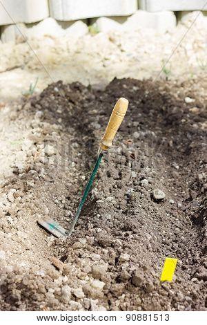 Hoe At Soil