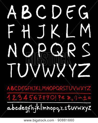English handwriting alphabet