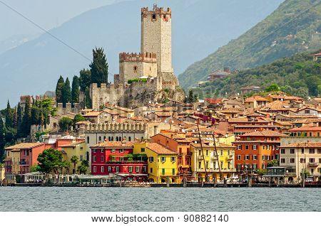Lake Garda, Town Of Malcesine (veneto, Italy)