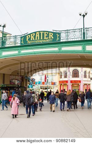 Entrance to the Prater amusement park in Vienna