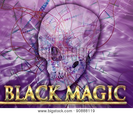 Abstract background digital collage concept illustration black magic