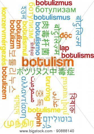 Background concept wordcloud multilanguage international many language illustration of botulism