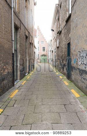 Empty Stone Alleyway