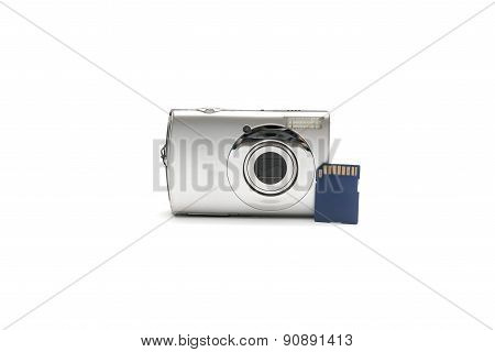 Compact Camera Amd Sd Card