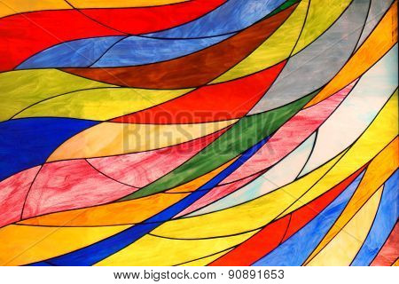 Abstract Colorful Glass Shape