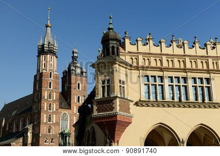 The Main Square Of Cracow, Poland