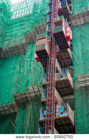 Construction With Elevator Lifts