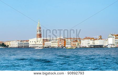 Panoramic view of San Marco and Doge's Palace in Venice