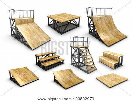 Set Of Skatepark Element