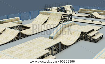 Area For A Skating Or Roller