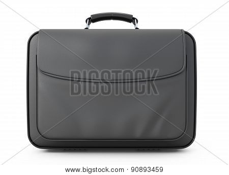Leather Briefcase For Documents Front View