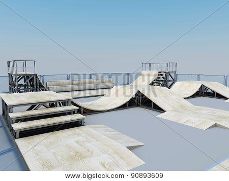 Platform For A Skating Or Roller
