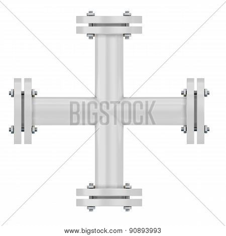 White Pipeline Cross