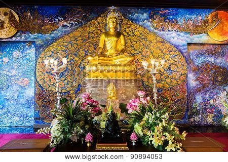 Beautiful Golden Buddha In Thailand