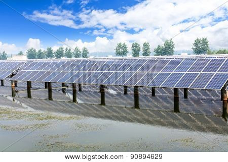 solar panels outdoors