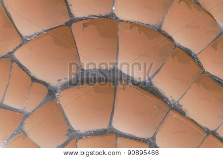 Abstract Soft Brown Ceramic Tile