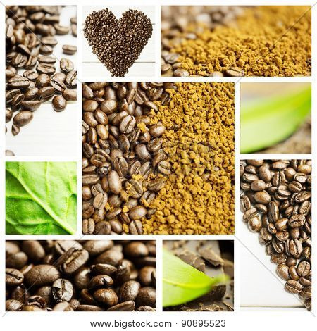 Coffee Beans against chocolate
