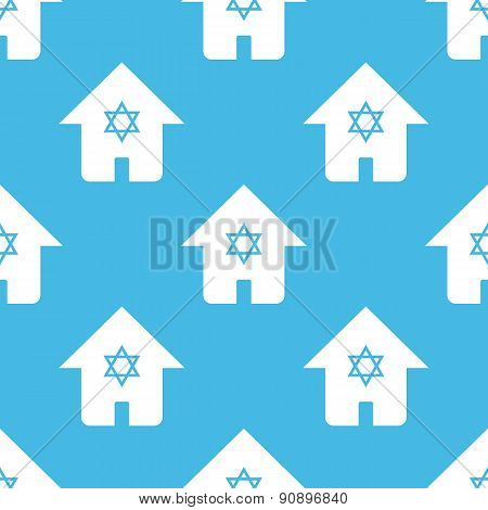 Blue judaic house pattern
