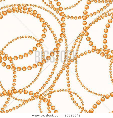 Threads Of Orange And Blue Beads