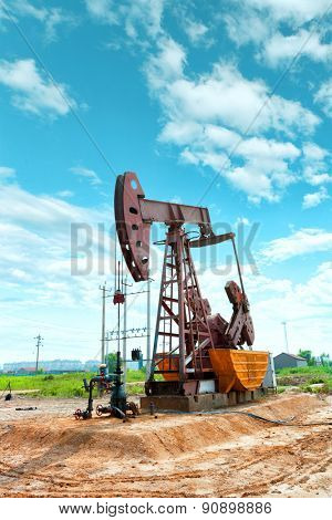 oil well and blue sky
