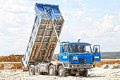 picture of dump_truck  - Freight trucks with dump body - JPG