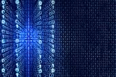 picture of binary code  - Blue Matrix Abstract  - JPG