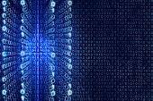 picture of zero  - Blue Matrix Abstract  - JPG