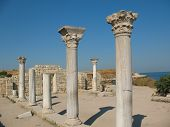 picture of sevastopol  - Columns of the Temple in Hersonissos - JPG