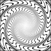 foto of distortion  - Design monochrome swirl movement illusion background - JPG