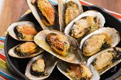 pic of clam  - Delicious Fresh Clams with herbs and garlic - JPG